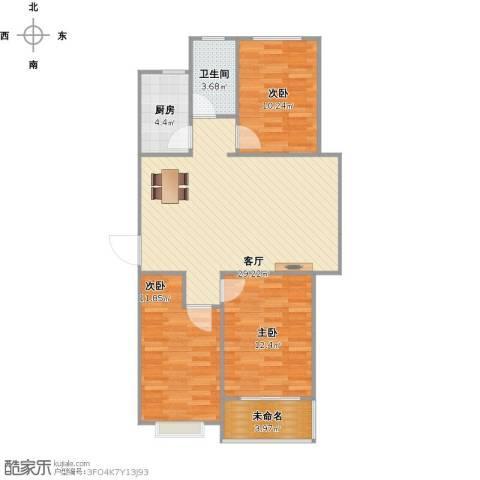冀州市凯隆御景3室1厅1卫1厨102.00㎡户型图