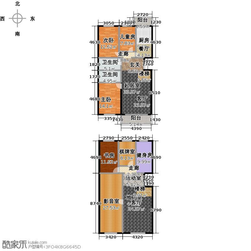 天通・公园里142.59㎡B2+六室两厅两卫户型