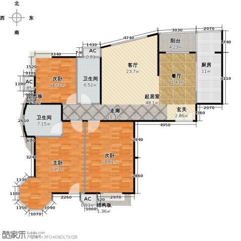 瑞都公园世家3室0厅2卫1厨146.00㎡户型图