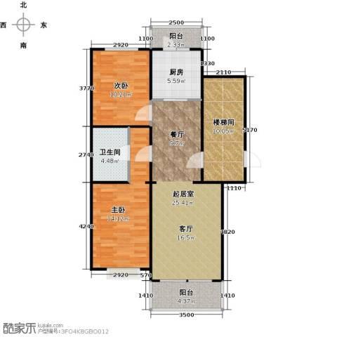 新华联锦园2室0厅1卫1厨104.00㎡户型图