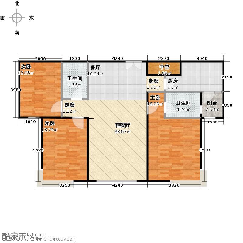 合生国际花园133.82㎡F5户型3室2厅2卫(售罄)户型