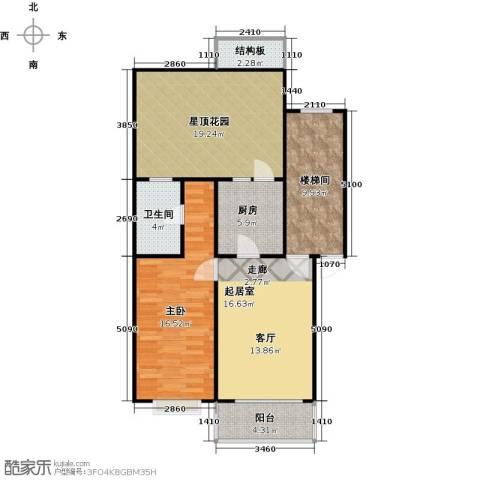 新华联锦园1室0厅1卫1厨106.00㎡户型图