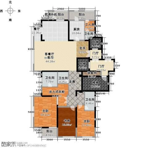 融泽府3室1厅4卫1厨288.00㎡户型图