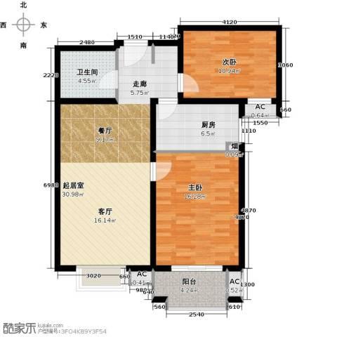 艺水芳园2室0厅1卫1厨93.00㎡户型图