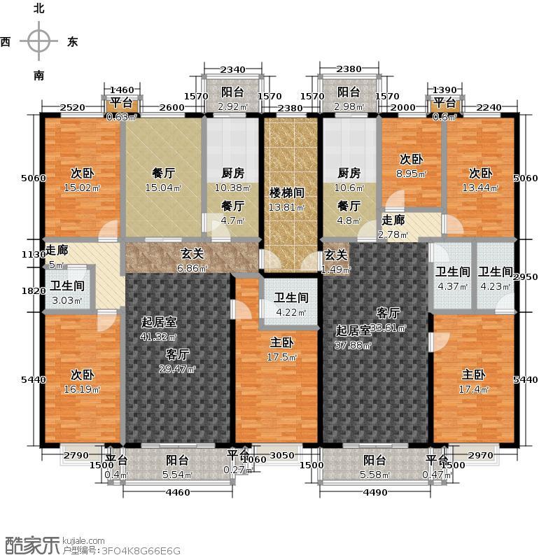 天通・公园里28号楼2单元2-4层户型