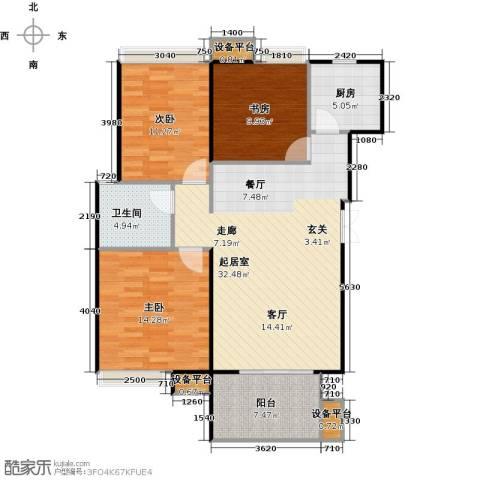 东投阳光城3室0厅1卫1厨94.00㎡户型图