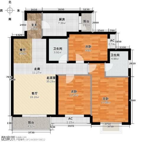 艺水芳园3室0厅2卫1厨120.00㎡户型图