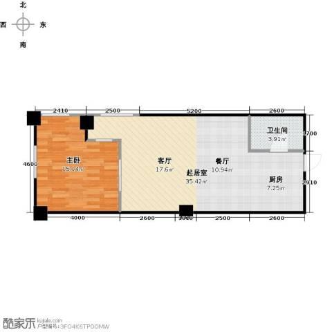 浪琴湾1室0厅1卫0厨70.00㎡户型图