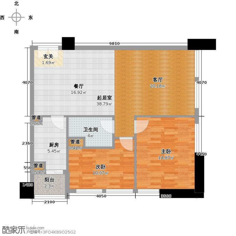 北京香颂B户型一居户型