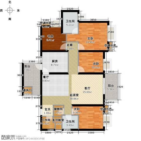 半岛城邦二期4室0厅2卫1厨156.00㎡户型图