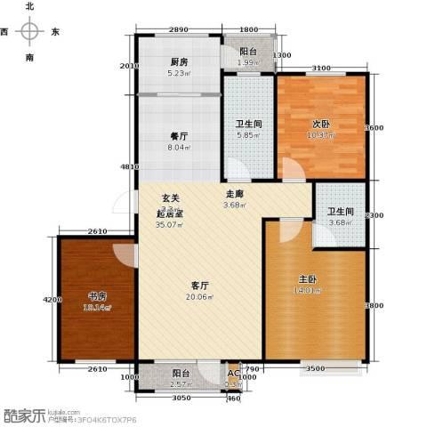 浪琴湾3室0厅2卫1厨106.00㎡户型图