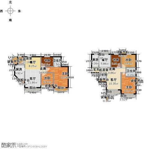 珠江绿洲6室1厅4卫2厨143.00㎡户型图