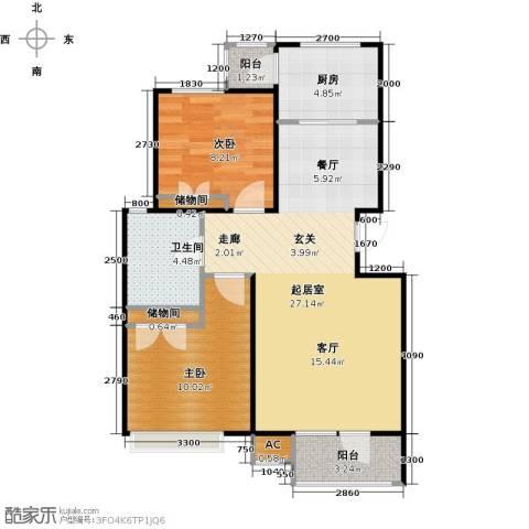 浪琴湾2室0厅1卫1厨84.00㎡户型图