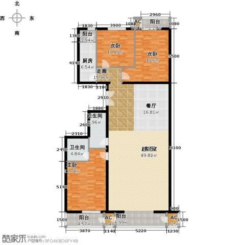 里外里公寓3室0厅2卫1厨226.00㎡户型图