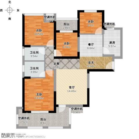 保利心语8期4室1厅2卫1厨139.00㎡户型图