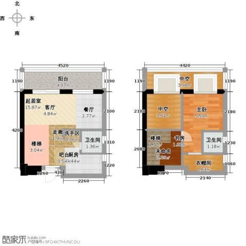 五洲国际电子城1室0厅2卫0厨51.00㎡户型图