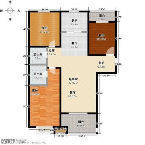 嘉华国际3室0厅2卫1厨139.00㎡户型图