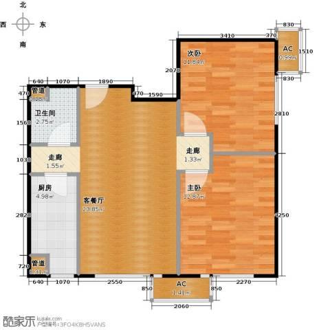 东亚上北中心2室1厅1卫1厨80.00㎡户型图