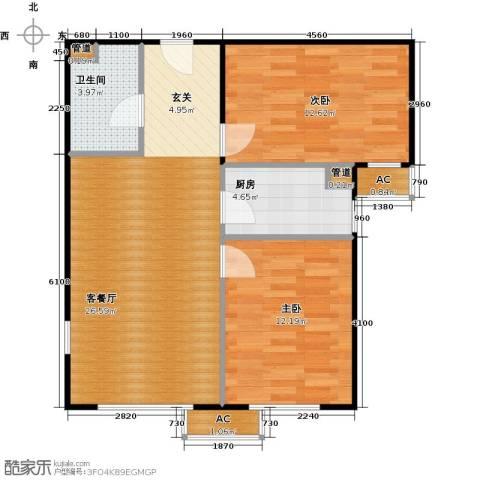 东亚上北中心2室1厅1卫1厨85.00㎡户型图