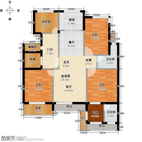 翠屏托乐嘉4室0厅2卫1厨125.00㎡户型图