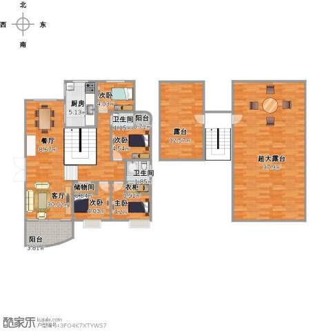 恒兴金都华庭4室2厅2卫1厨151.00㎡户型图