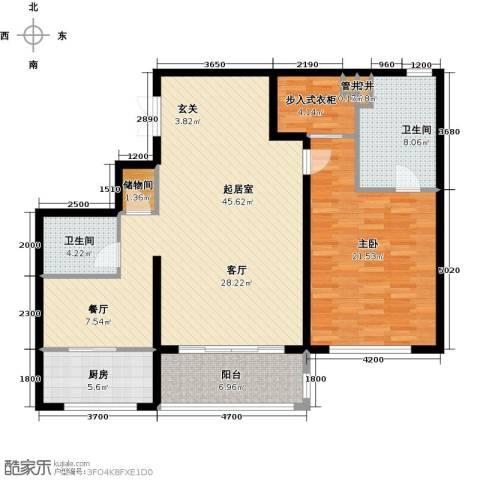 万达大湖公馆1室0厅2卫1厨138.00㎡户型图
