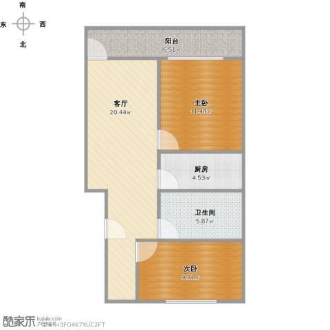 昌五小区2室1厅1卫1厨79.00㎡户型图