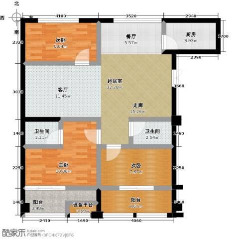 仪邦广场3室0厅2卫1厨112.00㎡户型图