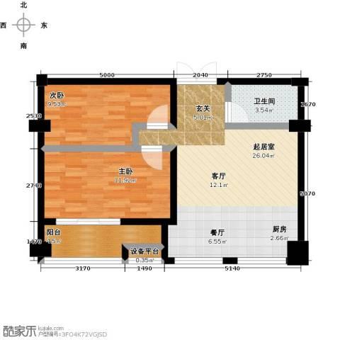 仪邦广场2室0厅1卫0厨82.00㎡户型图