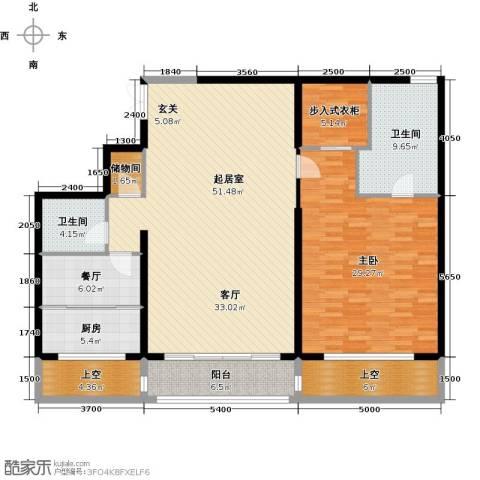 万达大湖公馆1室1厅2卫1厨181.00㎡户型图