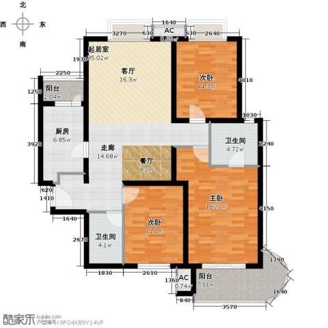 艺水芳园3室0厅2卫1厨124.00㎡户型图