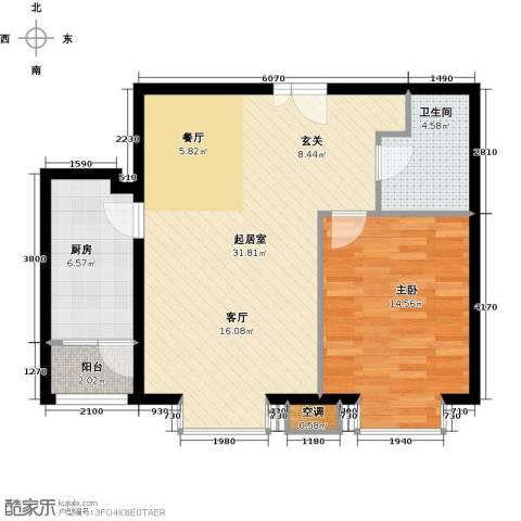 首开知语城1室0厅1卫1厨84.00㎡户型图