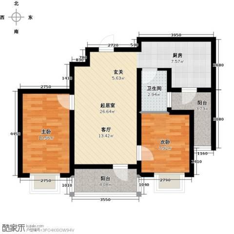 滨洲华府2室0厅1卫0厨62.00㎡户型图