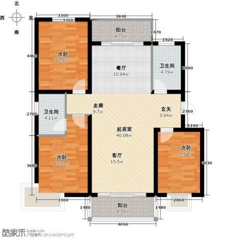 滨洲华府3室0厅2卫0厨112.00㎡户型图