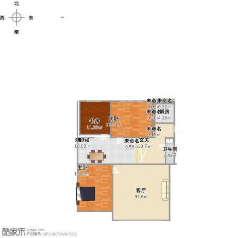 永安东里3室1厅1卫1厨125.00㎡户型图