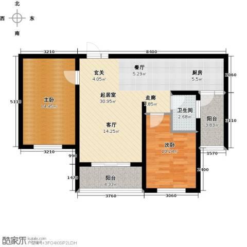 滨洲华府2室0厅1卫0厨85.00㎡户型图