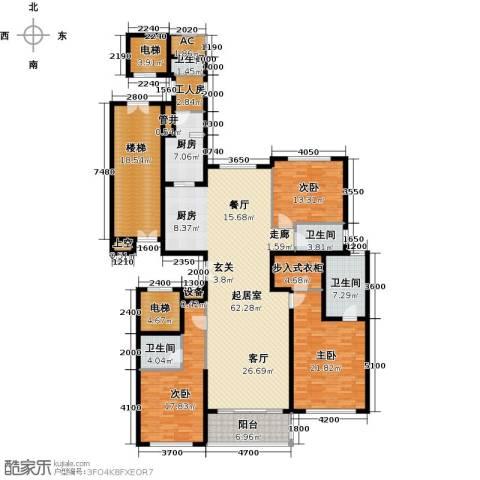 万达大湖公馆3室0厅4卫1厨261.00㎡户型图