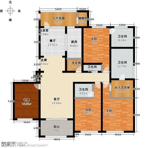 金鹰国际公馆4室0厅4卫1厨239.00㎡户型图