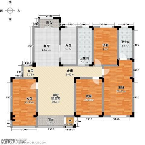 金越逸墅蓝湾4室0厅2卫1厨169.00㎡户型图