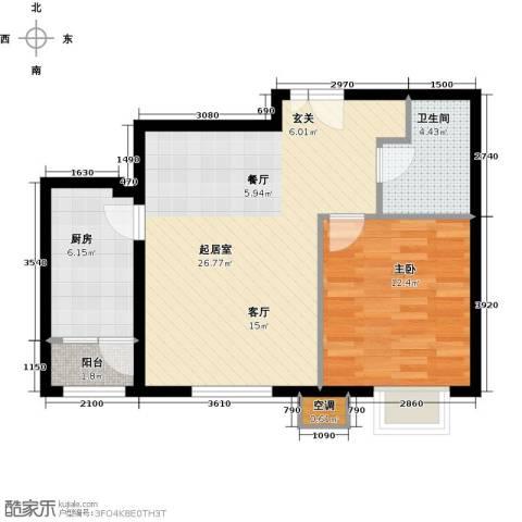 首开知语城1室0厅1卫1厨74.00㎡户型图