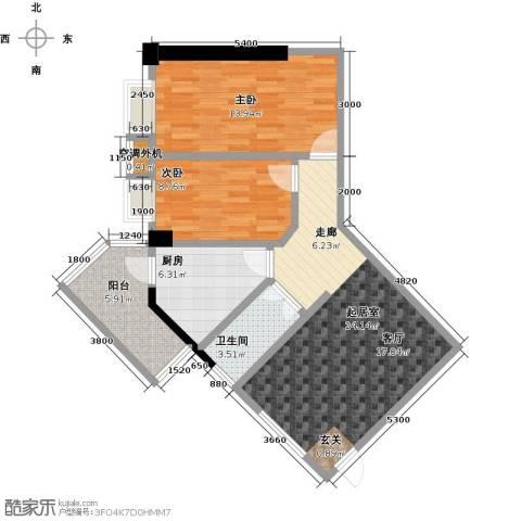 五邑锦绣豪庭2室0厅1卫1厨91.00㎡户型图