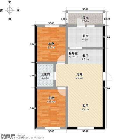 哈东上城2室0厅1卫1厨74.00㎡户型图