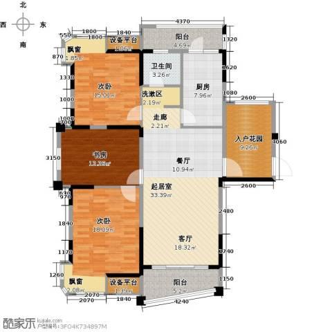 宇业天逸华府3室0厅1卫1厨120.00㎡户型图