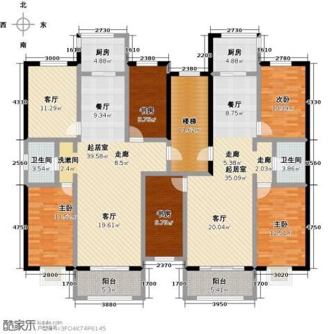 金坤新城花苑5室1厅2卫2厨178.42㎡户型图