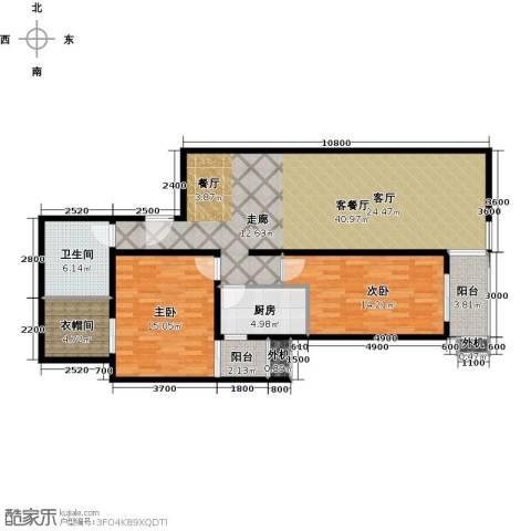 上东三角洲2室1厅1卫1厨121.00㎡户型图