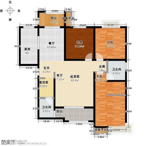 西安公馆3室0厅2卫1厨158.00㎡户型图