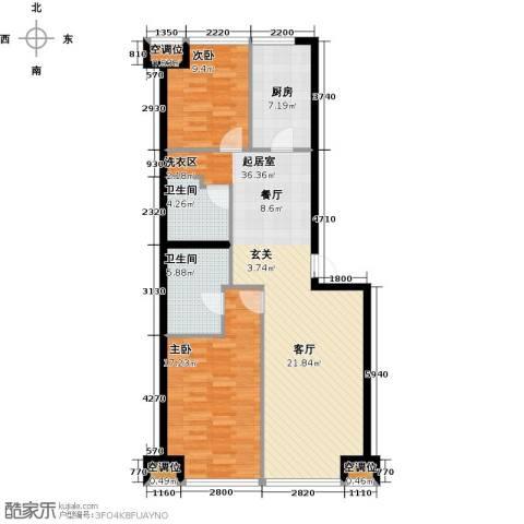 UHN国际村2室0厅2卫1厨115.00㎡户型图