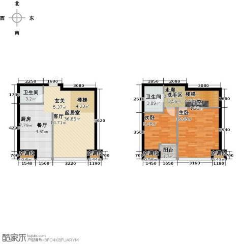 UHN国际村2室0厅2卫0厨115.00㎡户型图