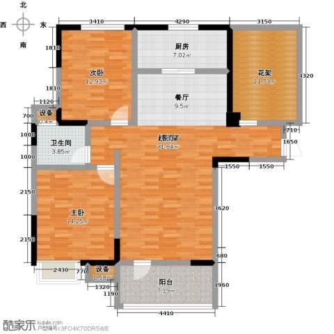 盛地沃尔玛广场2室0厅1卫1厨108.00㎡户型图