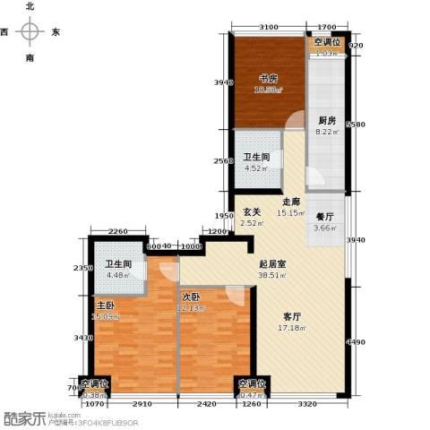 UHN国际村3室0厅2卫1厨135.00㎡户型图